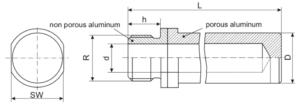 drawing-of-porous-aluminium-pneumatic-silencer-with-thread