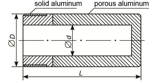 porous-aluminium-cylinder-porous-and-solid-parts