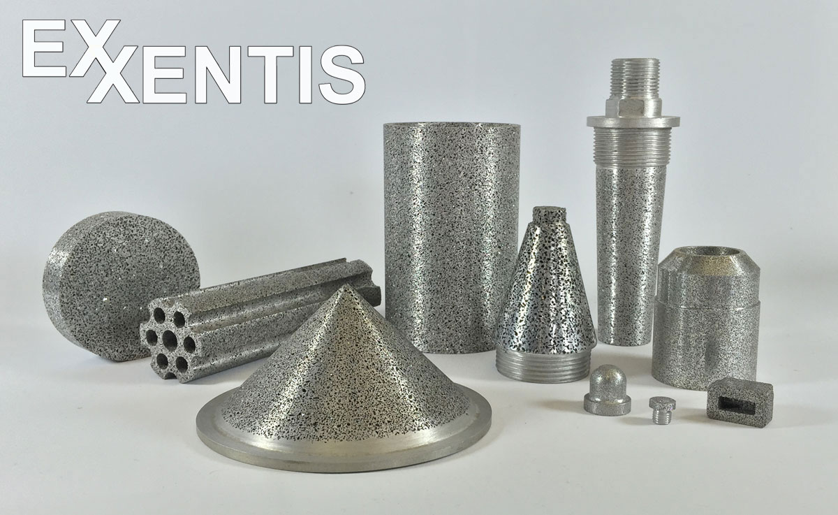 porous aluminium products, open cell permeable metal with pore sizes from 0,1 to 3,0 mm